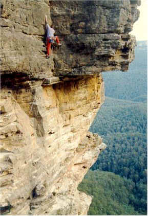 Rock climber, Blue Mountains