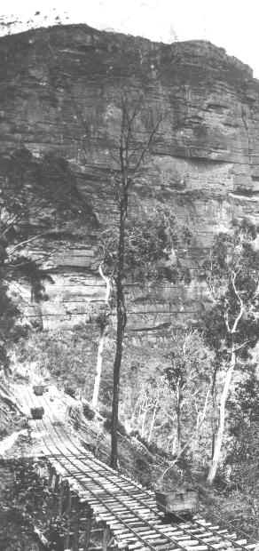 Trestle bridge below Katoomba, Blue Mountains.